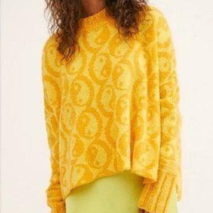 NWT Free People Yin Yang Pullover Sweater sun comb